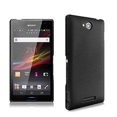 Etui Plastique Rigide Mat pour Sony Xperia C S39h Noir