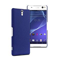 Etui Plastique Rigide Mat pour Sony Xperia C5 Ultra Bleu