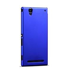 Etui Plastique Rigide Mat pour Sony Xperia T2 Ultra Dual Bleu