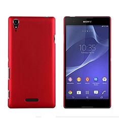 Etui Plastique Rigide Mat pour Sony Xperia T3 Rouge