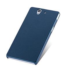 Etui Plastique Rigide Mat pour Sony Xperia Z L36h Bleu