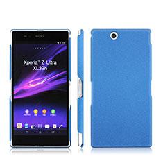 Etui Plastique Rigide Mat pour Sony Xperia Z Ultra XL39h Bleu