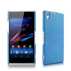 Etui Plastique Rigide Mat pour Sony Xperia Z1 L39h Bleu