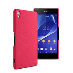 Etui Plastique Rigide Mat pour Sony Xperia Z2 Rose Rouge