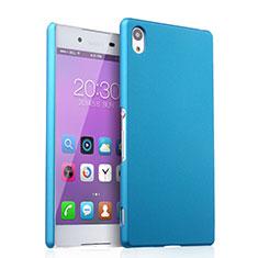 Etui Plastique Rigide Mat pour Sony Xperia Z3+ Plus Bleu Ciel