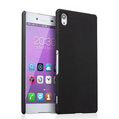 Etui Plastique Rigide Mat pour Sony Xperia Z3+ Plus Noir