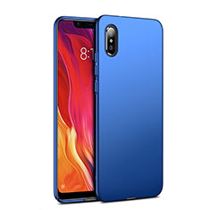 Etui Plastique Rigide Mat pour Xiaomi Mi 8 Pro Global Version Bleu