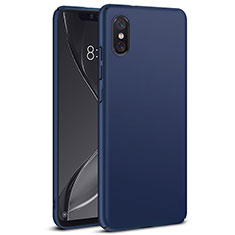 Etui Plastique Rigide Mat pour Xiaomi Mi 8 Screen Fingerprint Edition Bleu