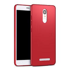 Etui Plastique Rigide Mat pour Xiaomi Redmi Note 3 MediaTek Rouge