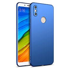Etui Plastique Rigide Mat pour Xiaomi Redmi Note 5 AI Dual Camera Bleu