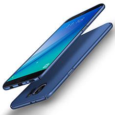 Etui Plastique Rigide Mat Q02 pour Samsung Galaxy S6 Edge+ Plus SM-G928F Bleu