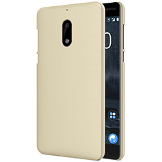 Etui Plastique Rigide Mat R01 pour Nokia 6 Or