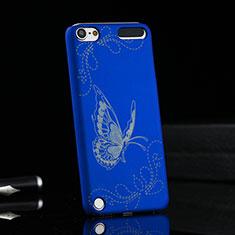 Etui Plastique Rigide Papillon pour Apple iPod Touch 5 Bleu