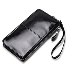 Etui Pochette Cuir Universel H07 pour Huawei Honor Magic 2 Noir