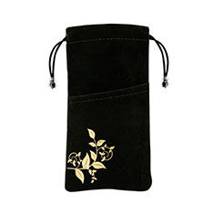 Etui Pochette Velour Universel K01 pour Apple iPhone 12 Noir