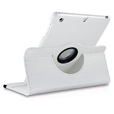 Etui Portefeuille Cuir Rotatif pour Apple iPad Mini Blanc