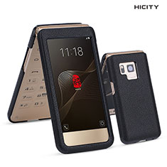 Etui Portefeuille Flip Cuir C01 pour Samsung W(2017) Noir