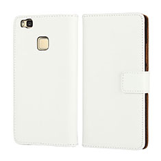 Etui Portefeuille Flip Cuir pour Huawei G9 Lite Blanc