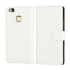 Etui Portefeuille Flip Cuir pour Huawei P9 Lite Blanc