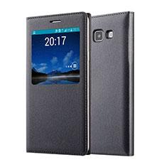 Etui Portefeuille Flip Cuir pour Samsung Galaxy A7 Duos SM-A700F A700FD Noir