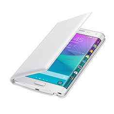 Etui Portefeuille Flip Cuir pour Samsung Galaxy Note Edge SM-N915F Blanc