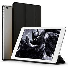 Etui Portefeuille Livre Cuir L01 pour Apple iPad Air Noir