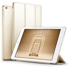 Etui Portefeuille Livre Cuir L01 pour Apple iPad Air Or