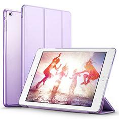 Etui Portefeuille Livre Cuir L01 pour Apple iPad Air Violet