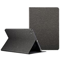 Etui Portefeuille Livre Cuir L01 pour Apple iPad Mini 2 Noir