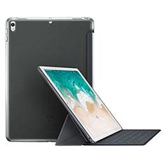 Etui Portefeuille Livre Cuir L01 pour Apple iPad Pro 10.5 Gris