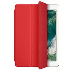 Etui Portefeuille Livre Cuir L01 pour Apple New iPad 9.7 (2018) Rouge