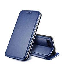 Etui Portefeuille Livre Cuir L01 pour Huawei Honor 10 Bleu