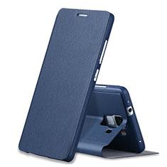 Etui Portefeuille Livre Cuir L01 pour Huawei Honor 7 Bleu
