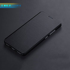 Etui Portefeuille Livre Cuir L01 pour Huawei Honor 7 Noir