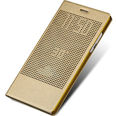 Etui Portefeuille Livre Cuir L01 pour Huawei Honor Note 8 Or