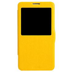 Etui Portefeuille Livre Cuir L01 pour Samsung Galaxy Note 3 N9000 Jaune
