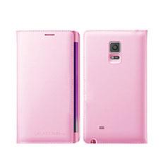 Etui Portefeuille Livre Cuir L01 pour Samsung Galaxy Note Edge SM-N915F Rose