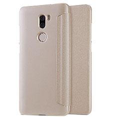 Etui Portefeuille Livre Cuir L01 pour Xiaomi Mi 5S Plus Or