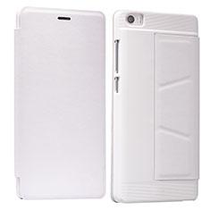Etui Portefeuille Livre Cuir L01 pour Xiaomi Mi Note Blanc