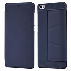 Etui Portefeuille Livre Cuir L01 pour Xiaomi Mi Note Bleu