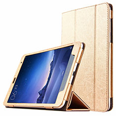 Etui Portefeuille Livre Cuir L01 pour Xiaomi Mi Pad 2 Or