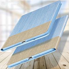 Etui Portefeuille Livre Cuir L02 pour Apple New iPad 9.7 (2017) Bleu Ciel