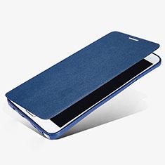 Etui Portefeuille Livre Cuir L02 pour Samsung Galaxy Note 5 N9200 N920 N920F Bleu