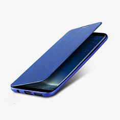 Etui Portefeuille Livre Cuir L02 pour Samsung Galaxy S8 Plus Bleu