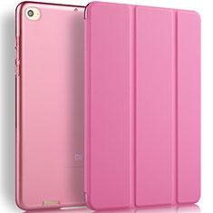 Etui Portefeuille Livre Cuir L02 pour Xiaomi Mi Pad 3 Rose