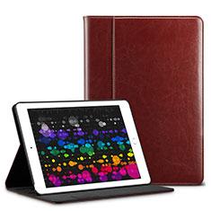 Etui Portefeuille Livre Cuir L03 pour Apple iPad Pro 10.5 Marron