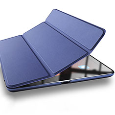 Etui Portefeuille Livre Cuir L03 pour Xiaomi Mi Pad 2 Bleu