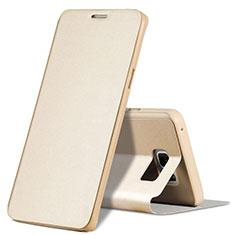 Etui Portefeuille Livre Cuir L04 pour Samsung Galaxy Note 5 N9200 N920 N920F Or