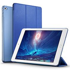 Etui Portefeuille Livre Cuir L05 pour Apple iPad Mini 4 Bleu