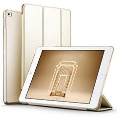 Etui Portefeuille Livre Cuir L05 pour Apple iPad Mini 4 Or
